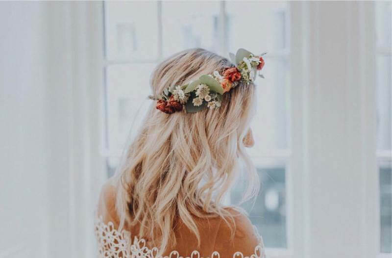 floral crowns are a wedding trend in 2020