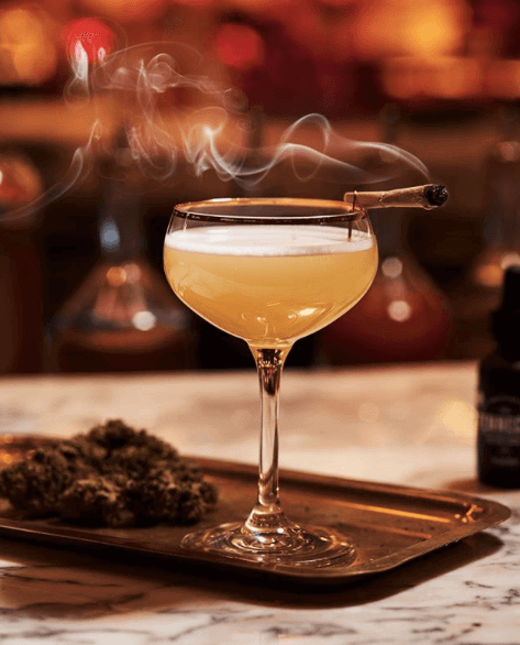 CBD-infused luxe cocktail from Snitch