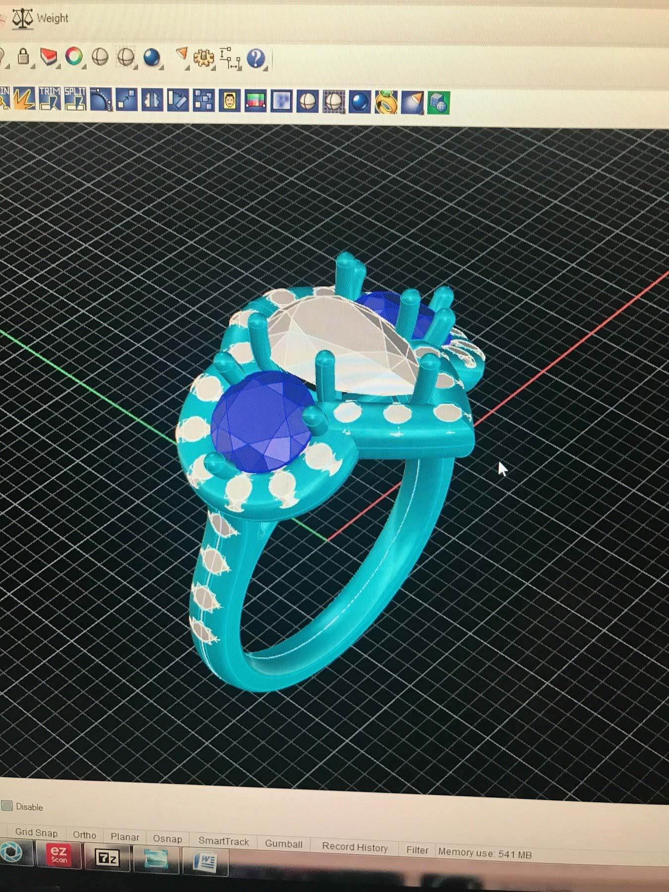 Computer image of ring