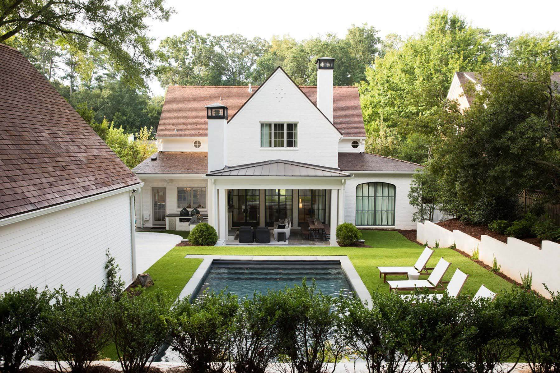 Aerial view of Orr home featuring backyard and pool