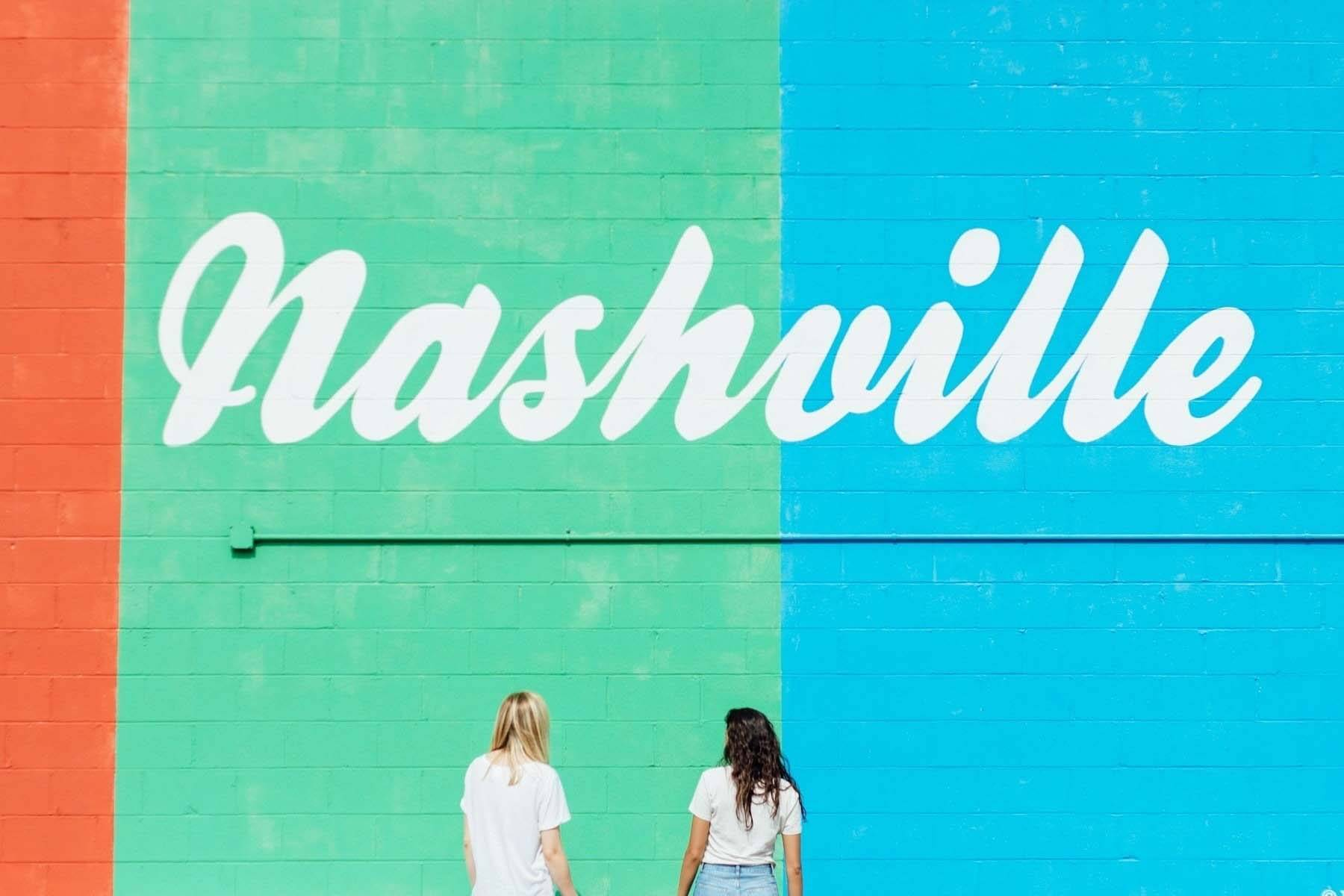 Nashville mural for last-minute Valentine's Day date idea