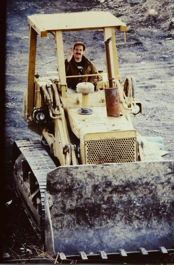 Barry on his bulldozer