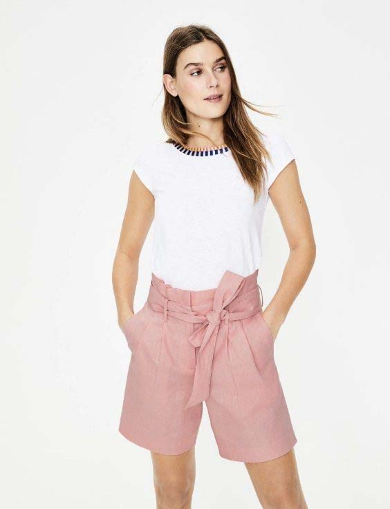 Pink bermuda shorts from Boden