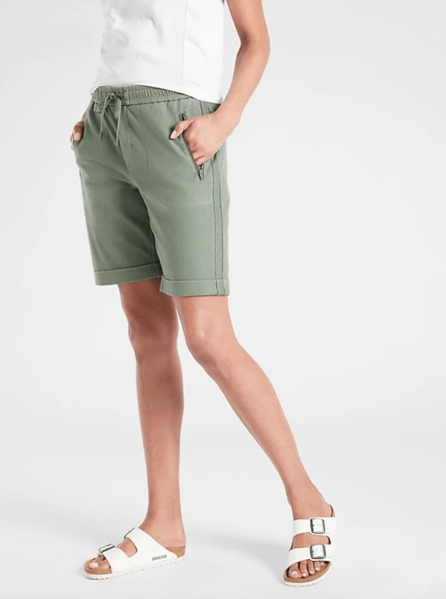 Green athletic bottoms from Athleta
