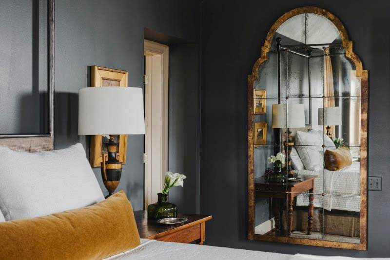 Mirror in Southern master bedroom
