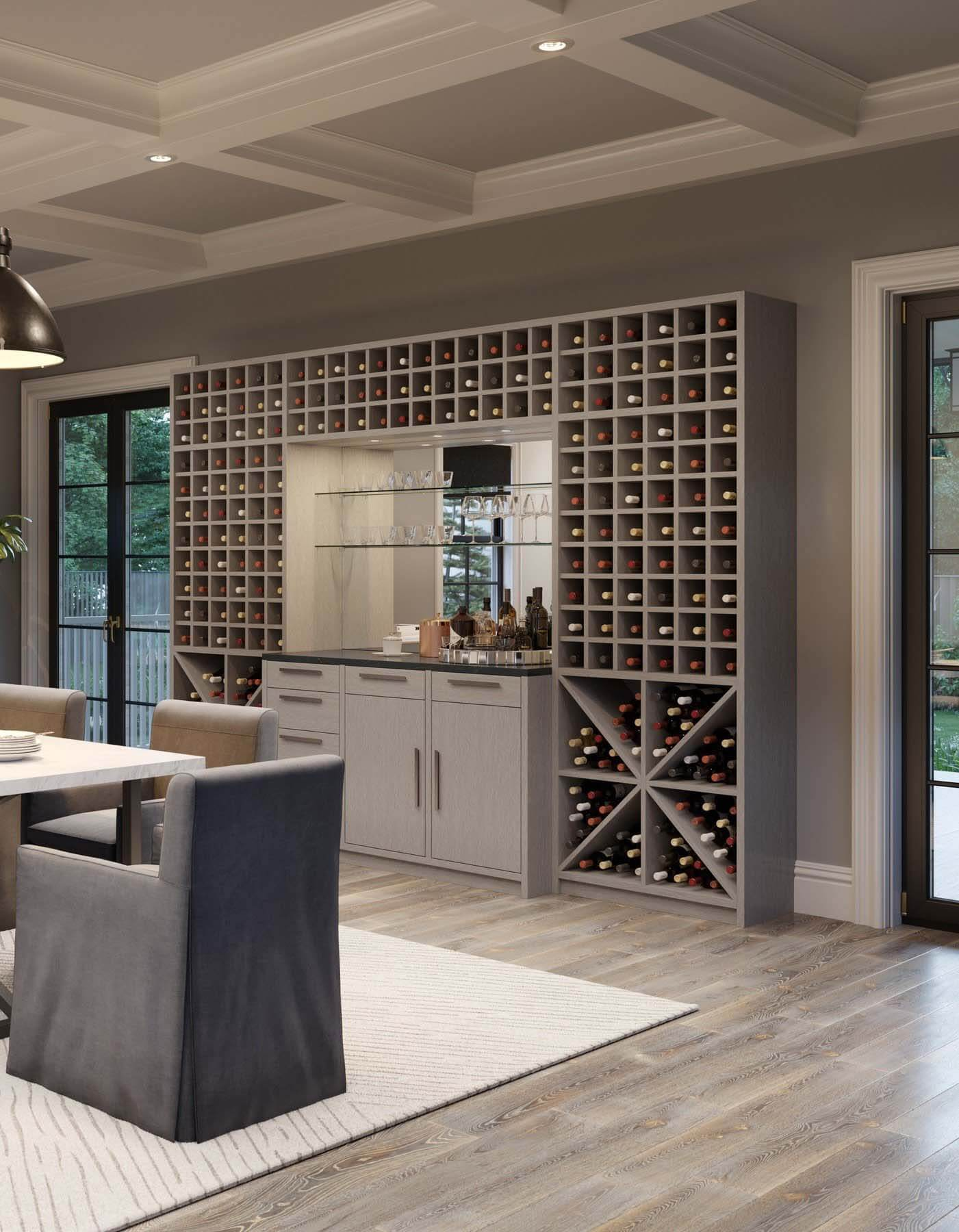 Wine wall by California Closets