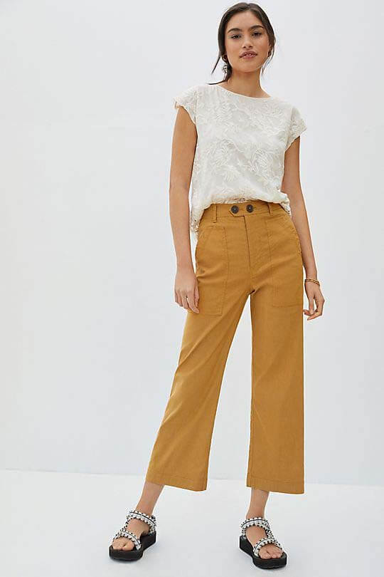 Wide Leg Pants from Anthropologie