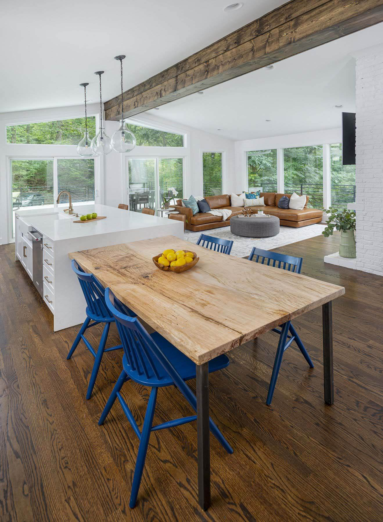 beth haley design project — kitchen and living room