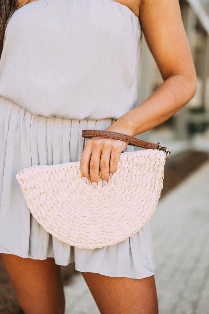 Straw bag from These Three Boutique