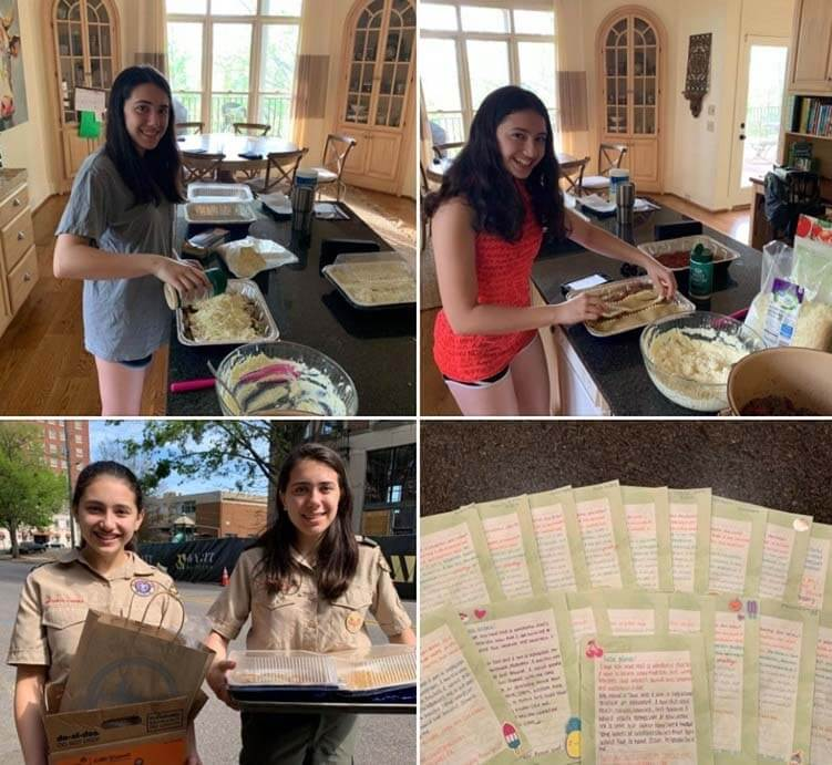 Good things — Michelle Conn's daughters delivering food and letters
