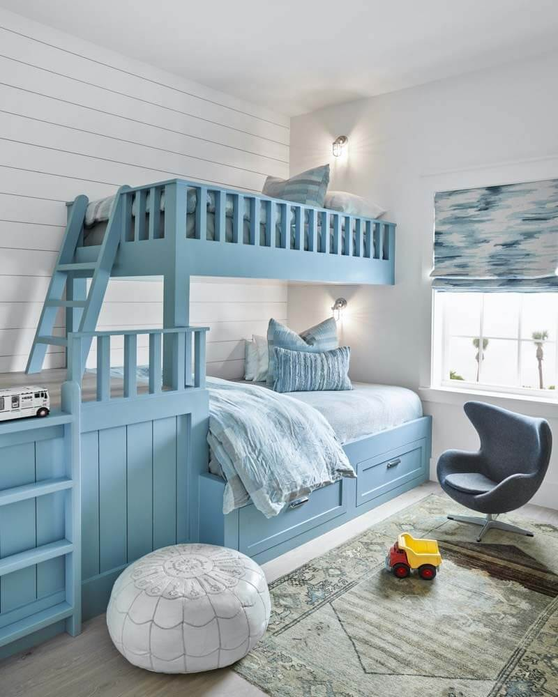Bunk room in Galveston beach bungalow