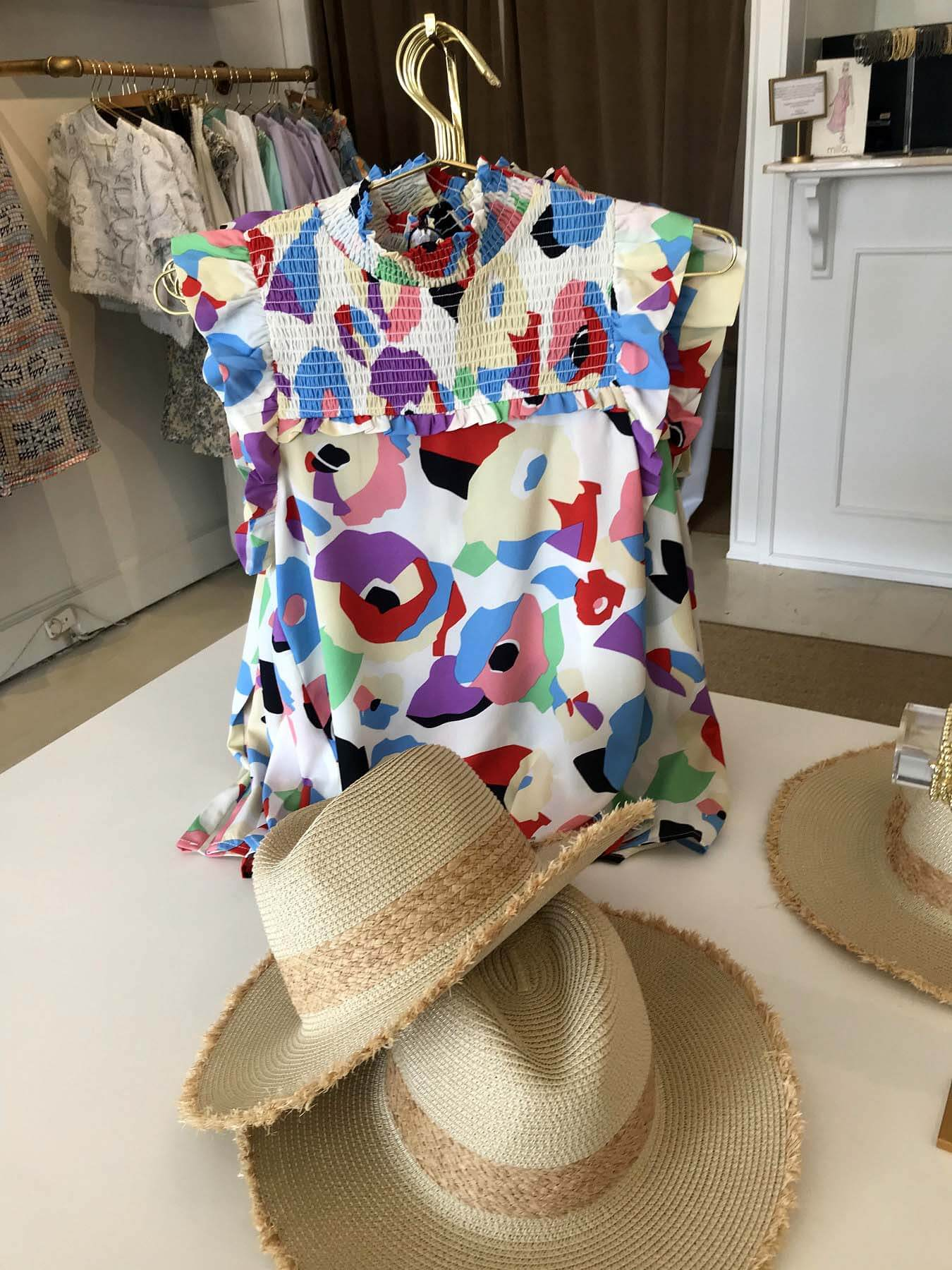 Floral blouse at Milla