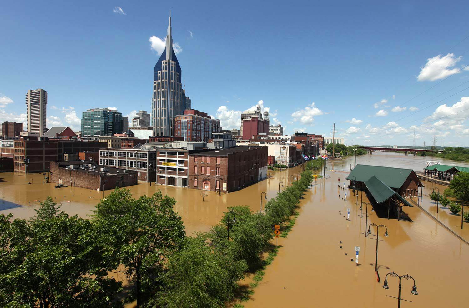 Community Foundation of Middle Tennessee helped out after the Nashville flood, pictured here.