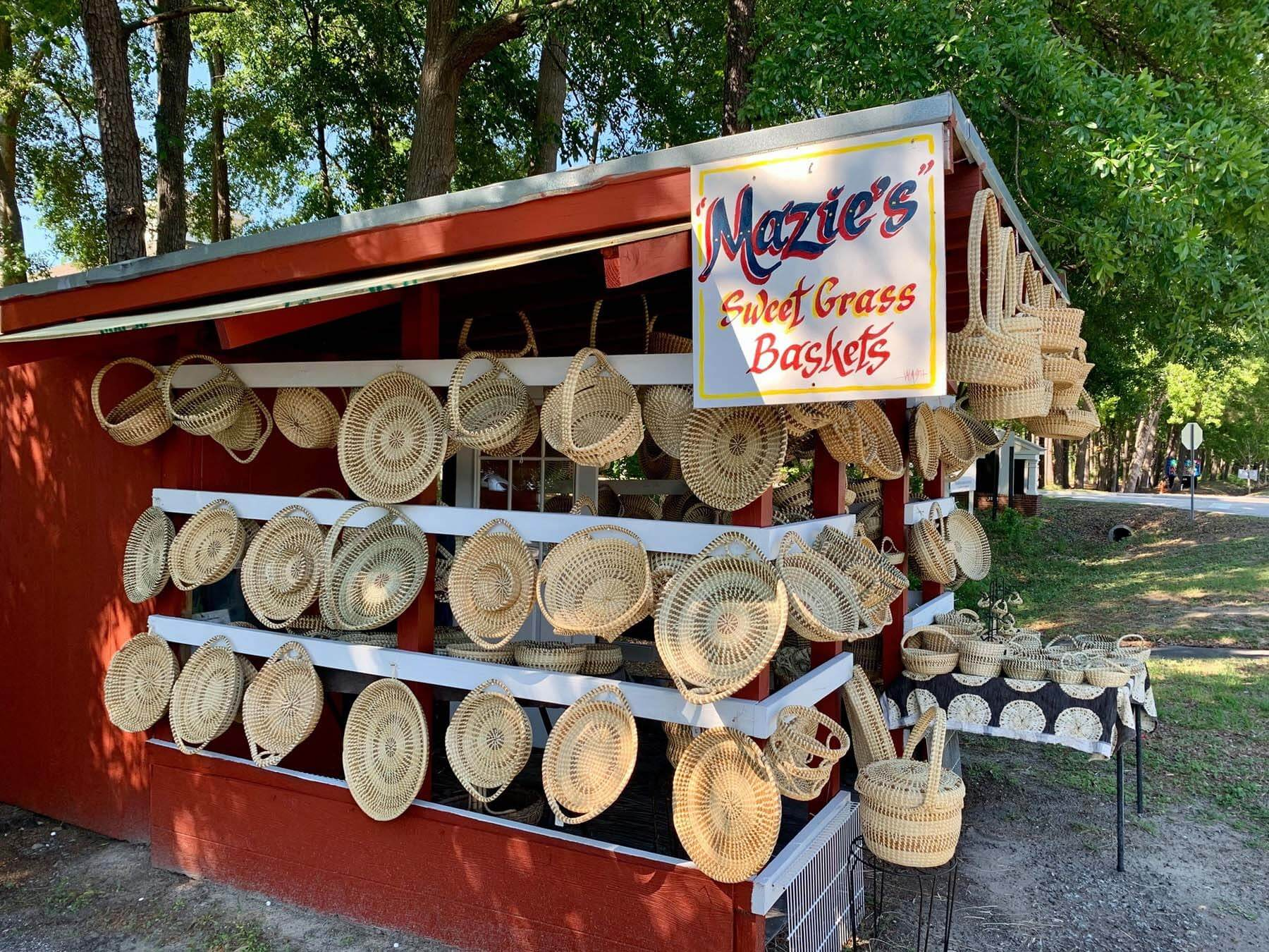 Highway 17 sweetgrass baskets