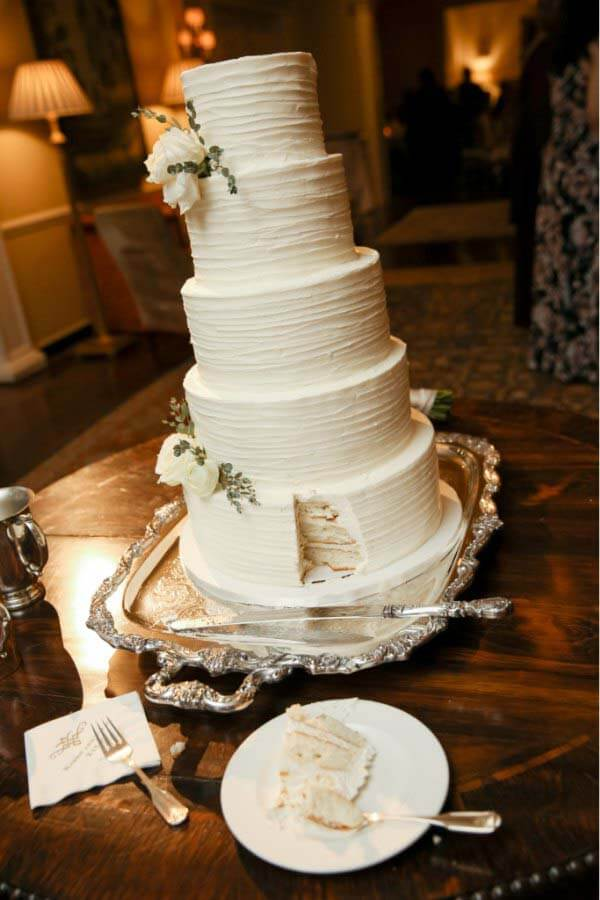 5-tiered wedding cake by Nashville Sweets