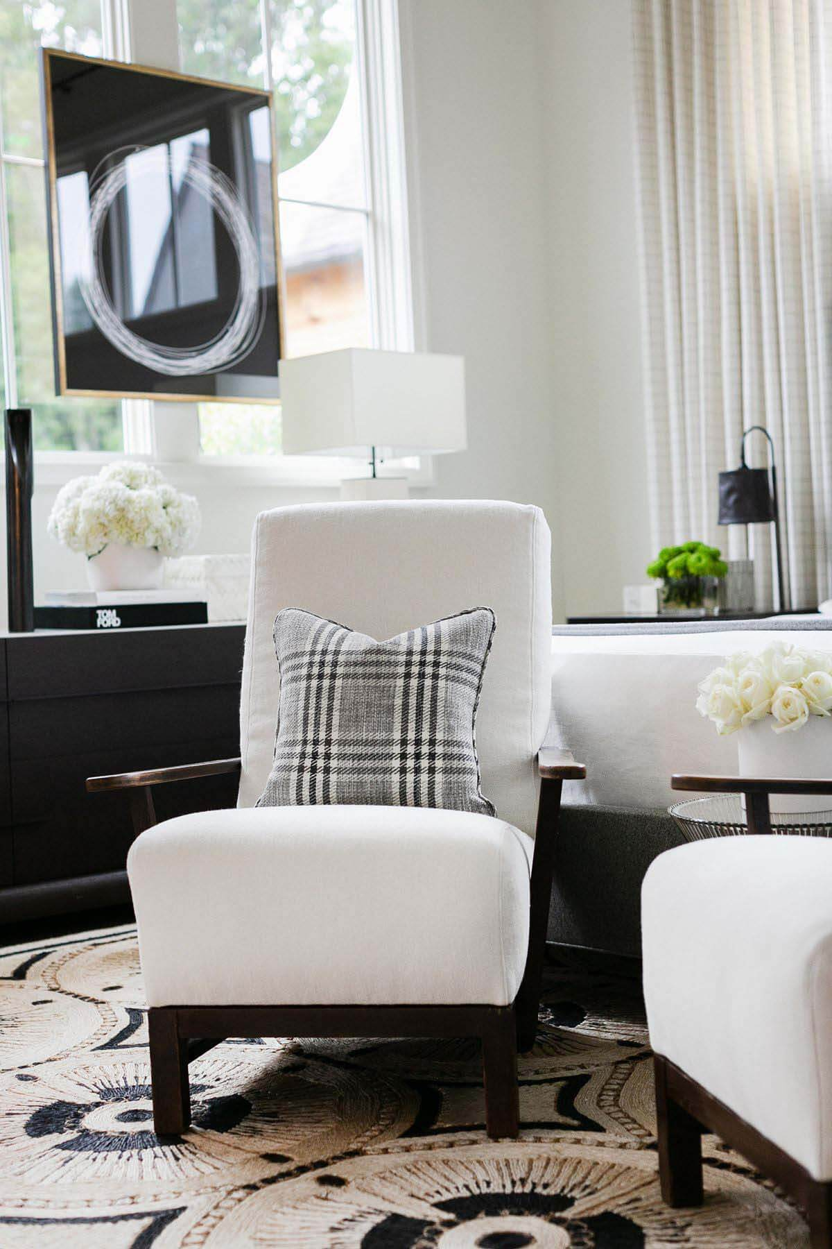 Matte black living room hardware picked out by Lorraine Enwright of Intuitive Dwellings