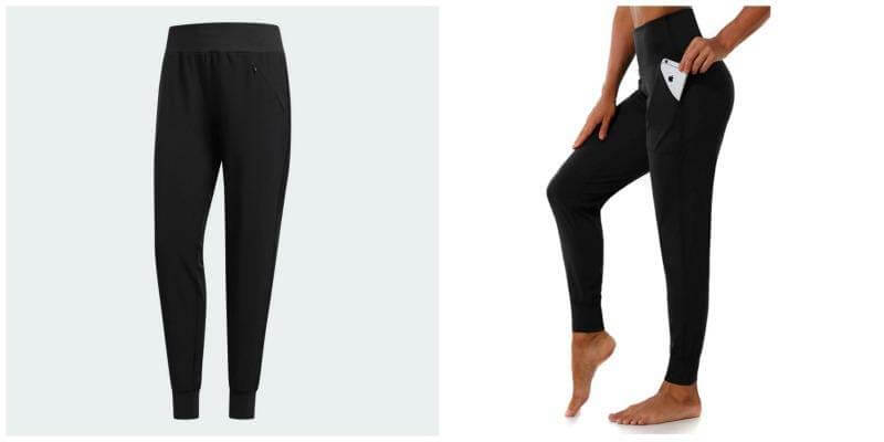 Fitness fashion: Adidas Beyond 18 Jogger Pants versus Women's Athletic Jogger Pants Dry Fit