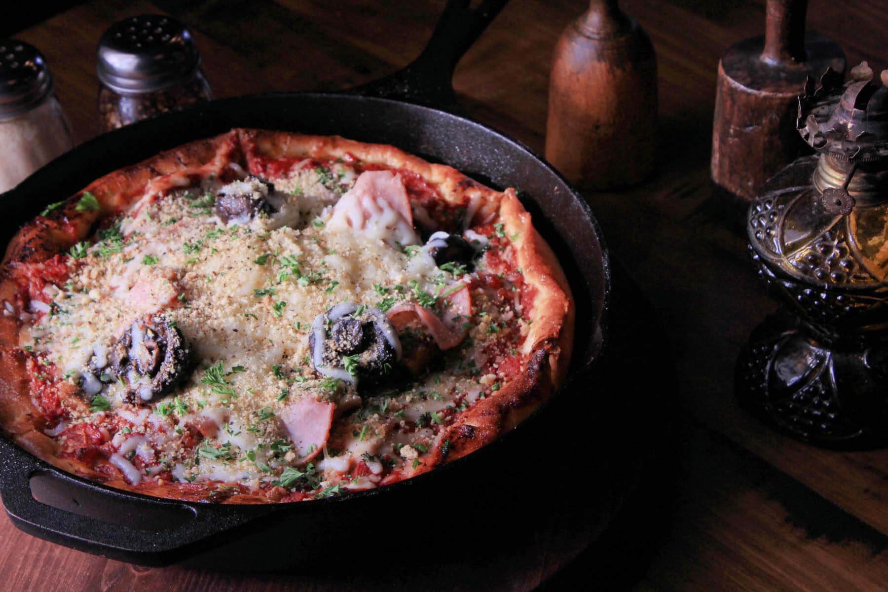 Pizza from Hog Father Pizza Shop, a new Louisville restaurant