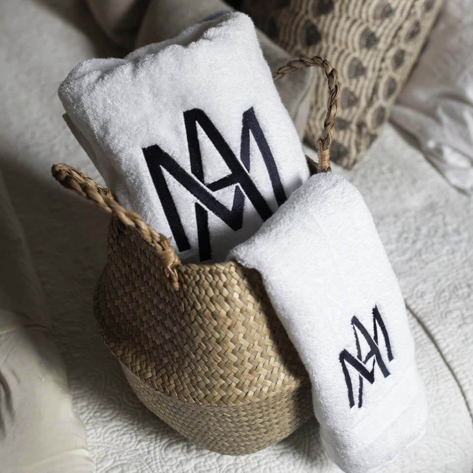 SB shop holiday collection: Monogrammed bath towels