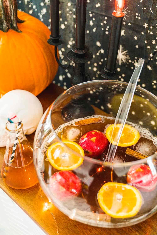 Warm cocktail recipe: Halloween Spooky Punch from Taste of Koko