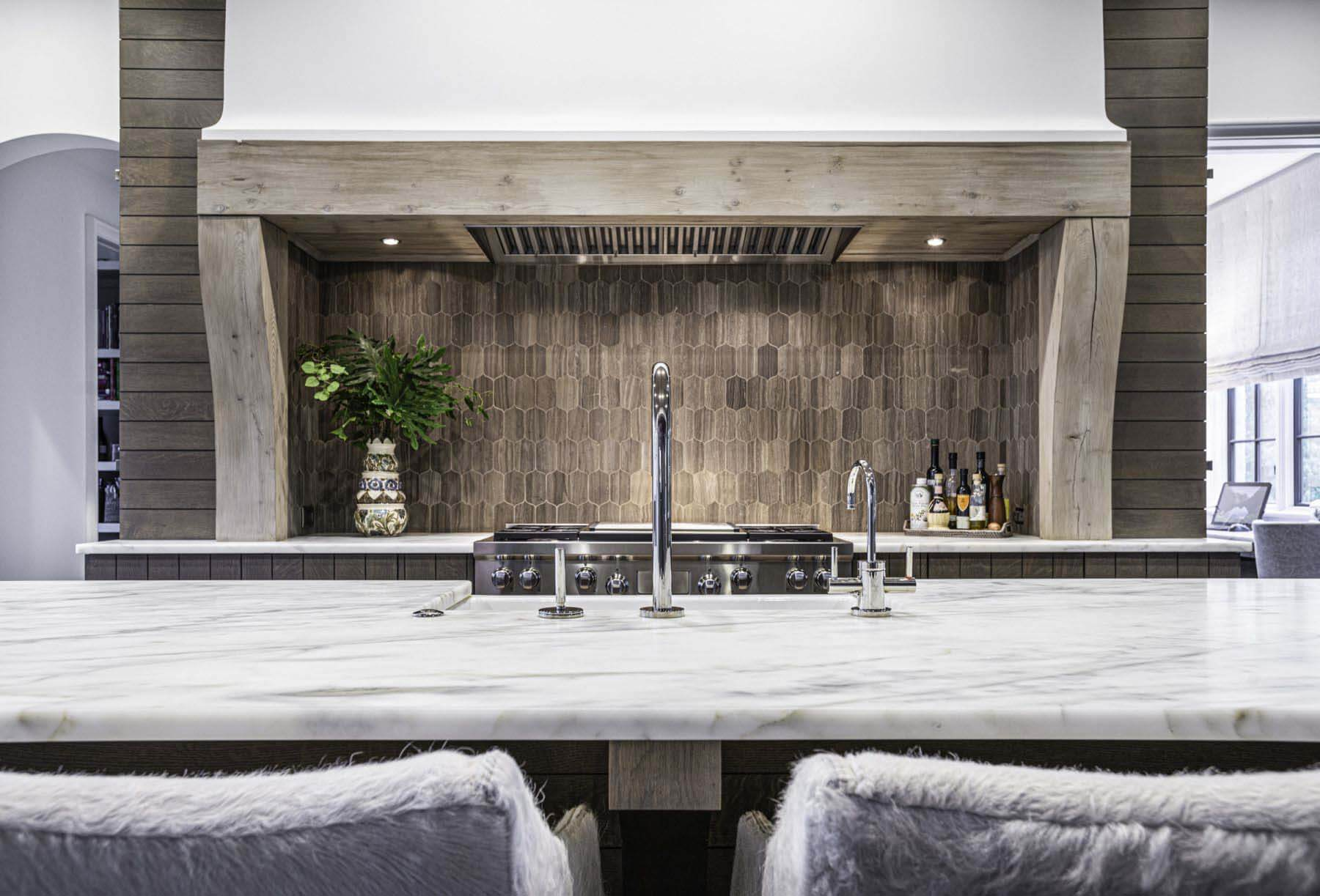 Kitchen island by Castle Homes