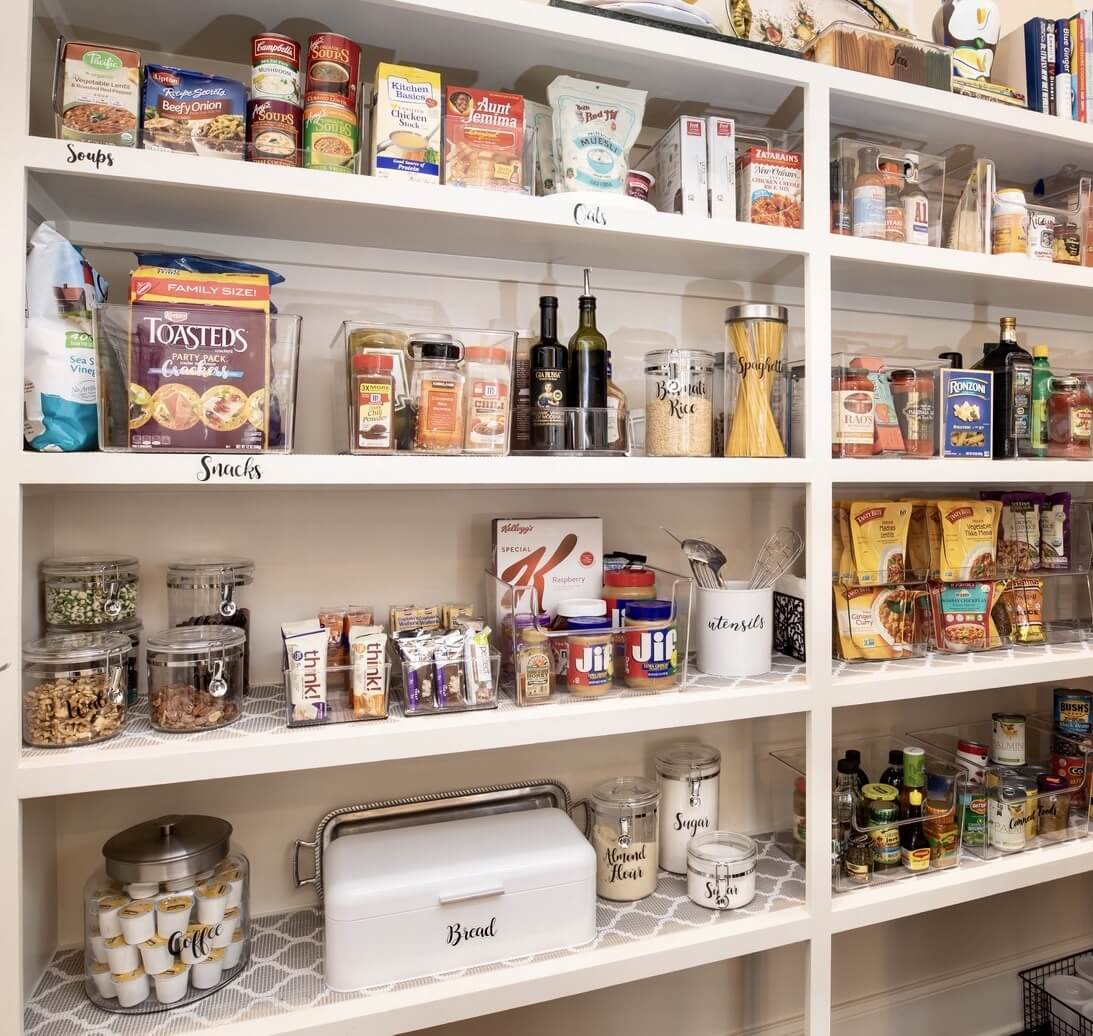 An organized pantry from WIPT Designs