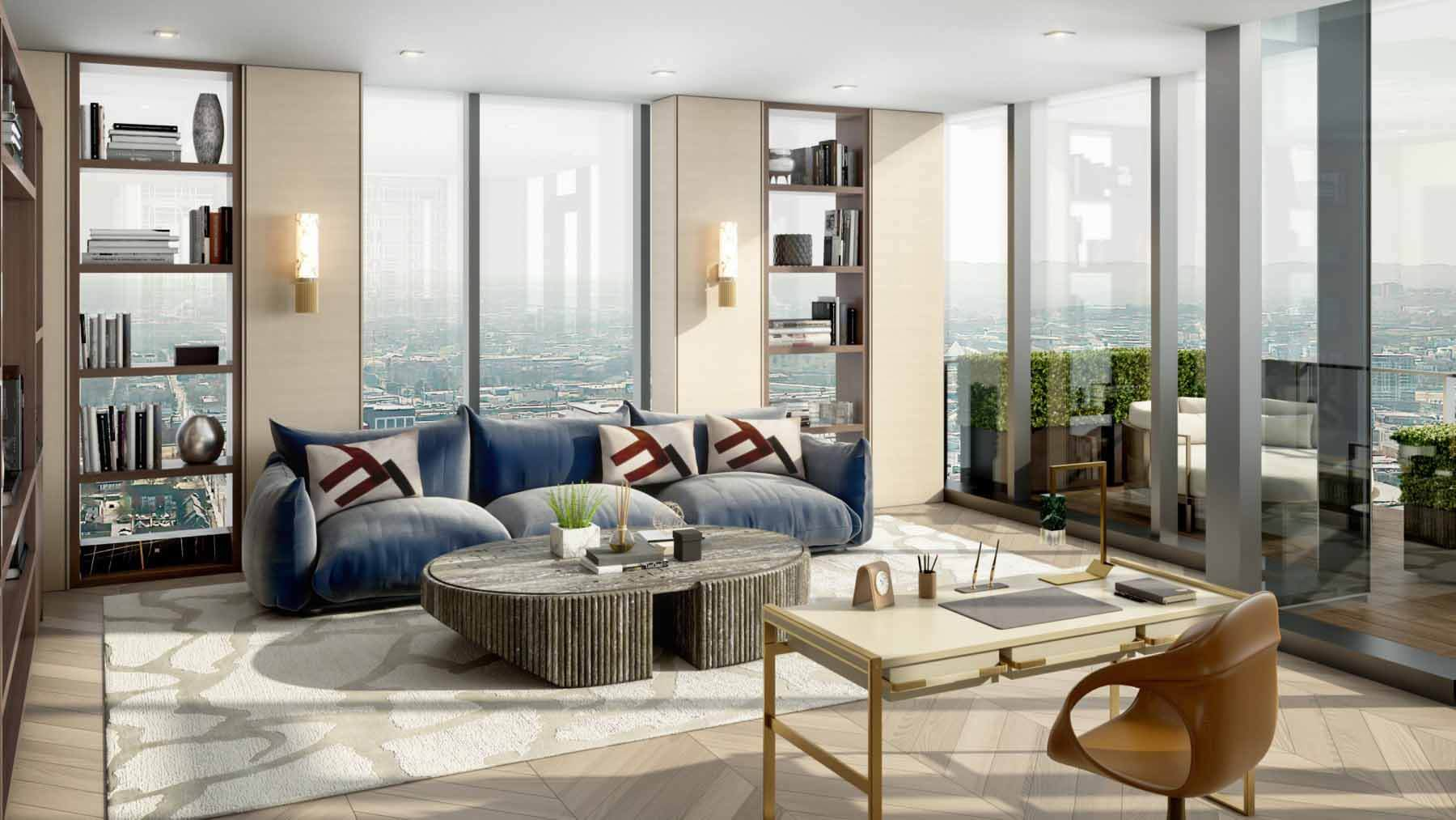 Grand Penthouse library