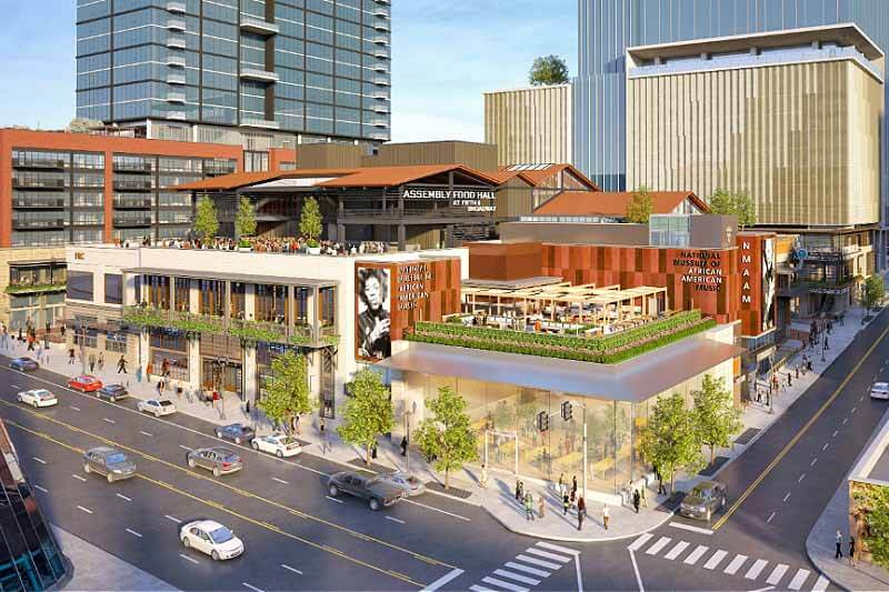 Rendering of Downtown's Fifth + Broadway complex