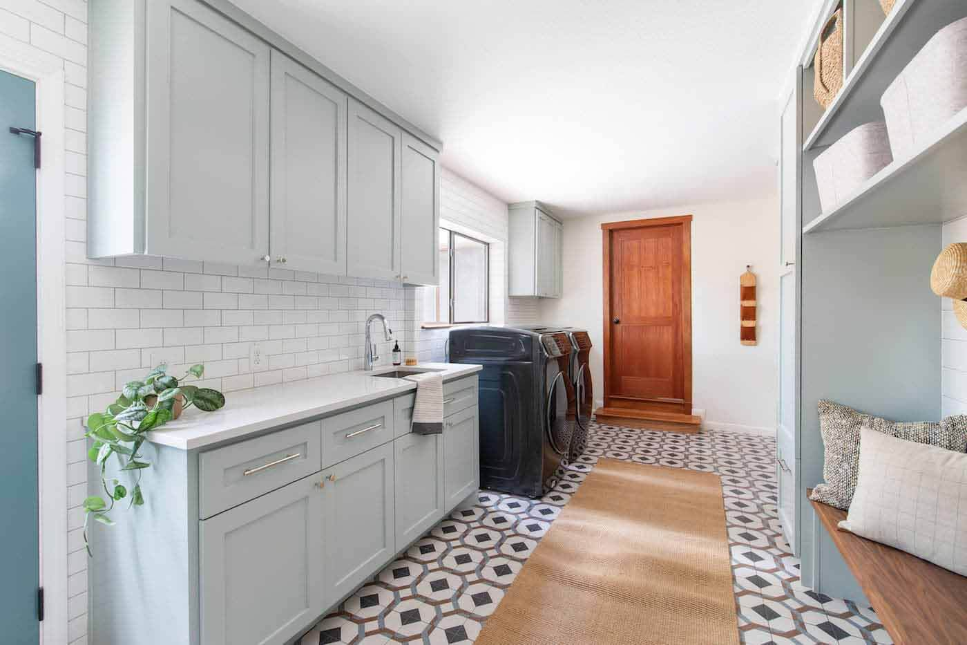Laundry room designed by Sarah Stacey