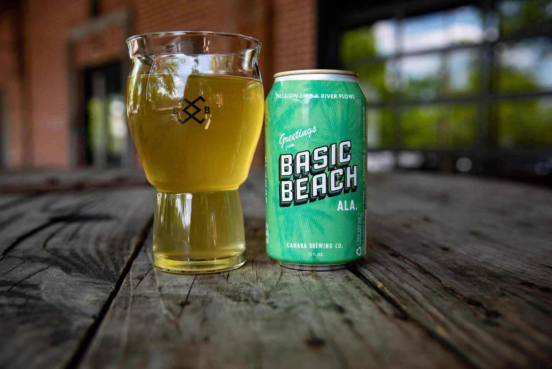 Basic Beach Berliner, a summer beer from Cahaba Brewing Company