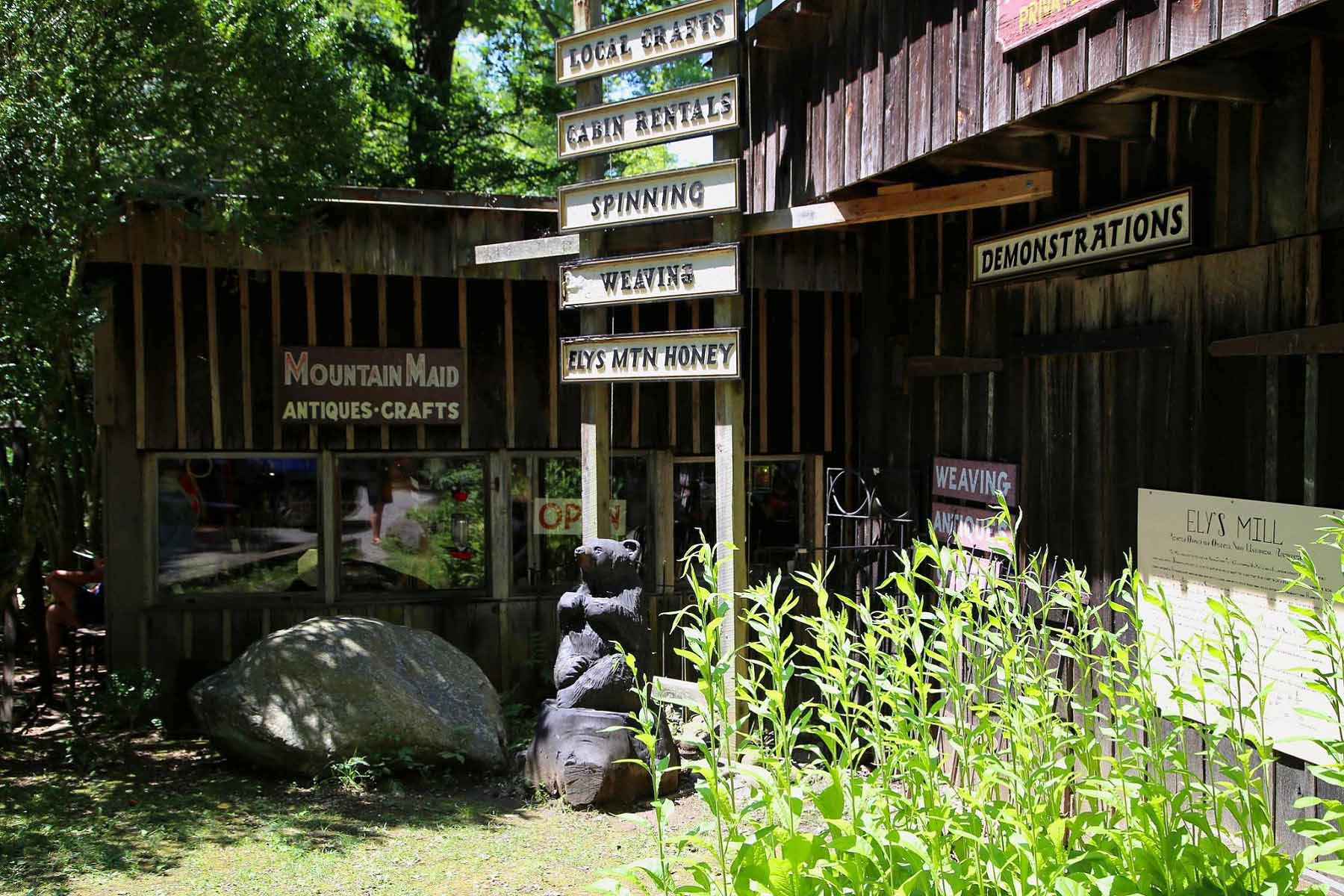Exterior of store at Ely's Mill
