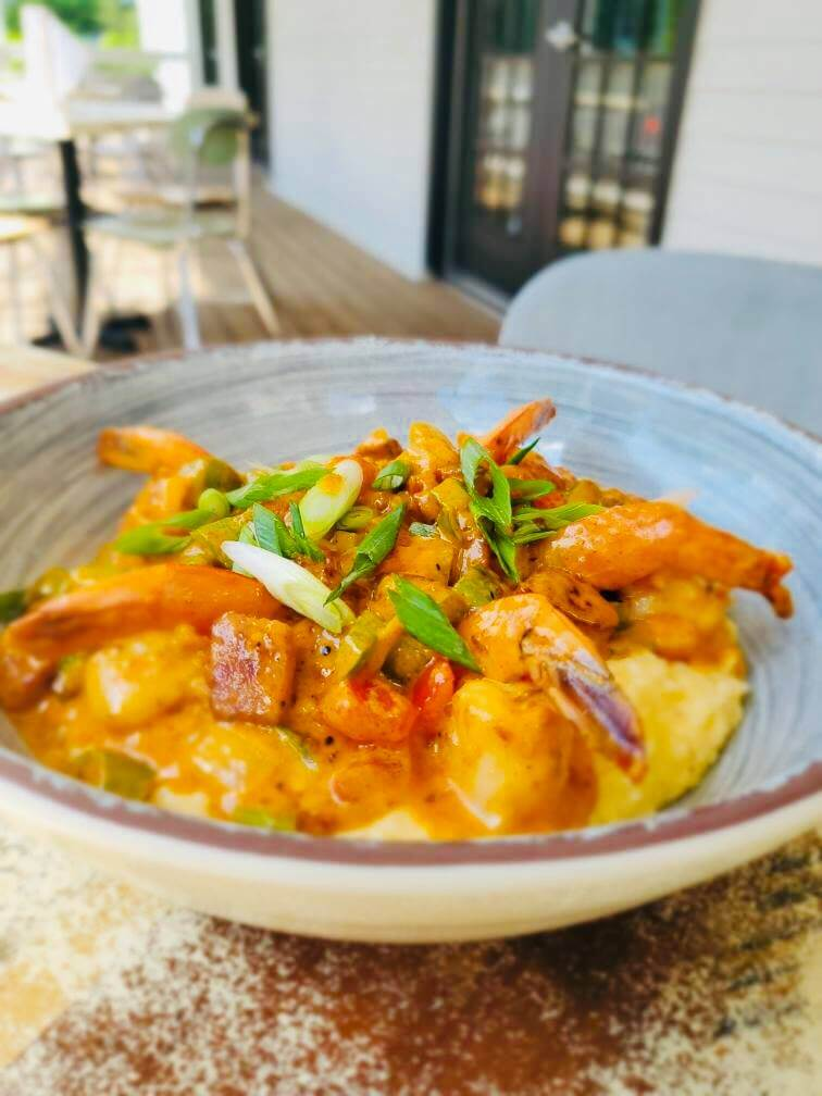 Shrimp and grits from B.A. Colonial, a new Louisville restaurant
