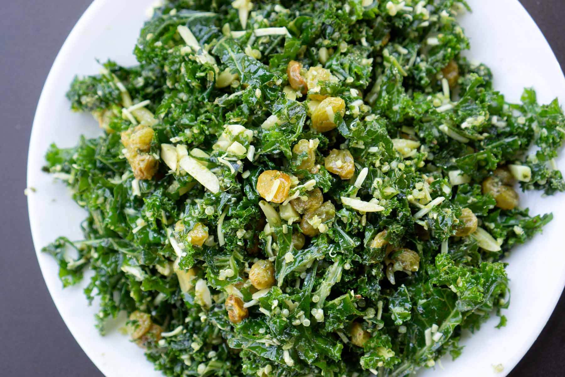 Kale salad from Cordelia's Table in Harbor Town