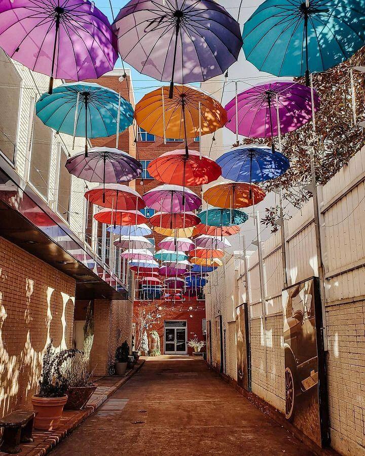 Umbrella Alley in Chattanooga West Village