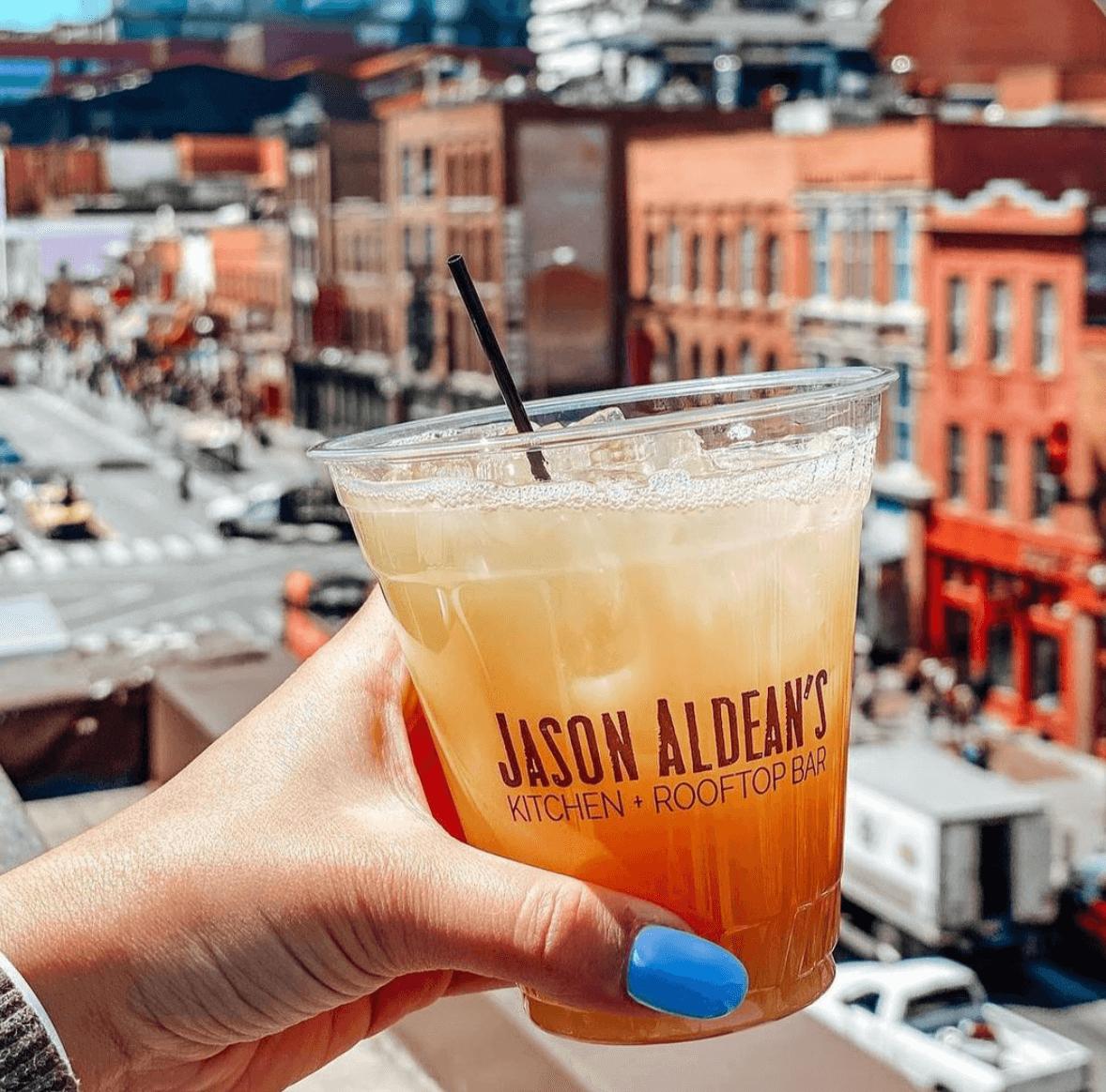 Cocktail from Jason Aldean's Kitchen + Rooftop Bar