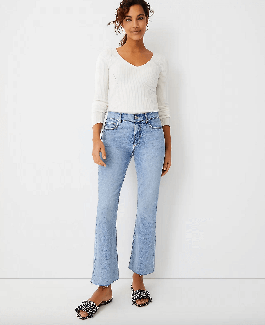 Cropped flares from Ann Taylor