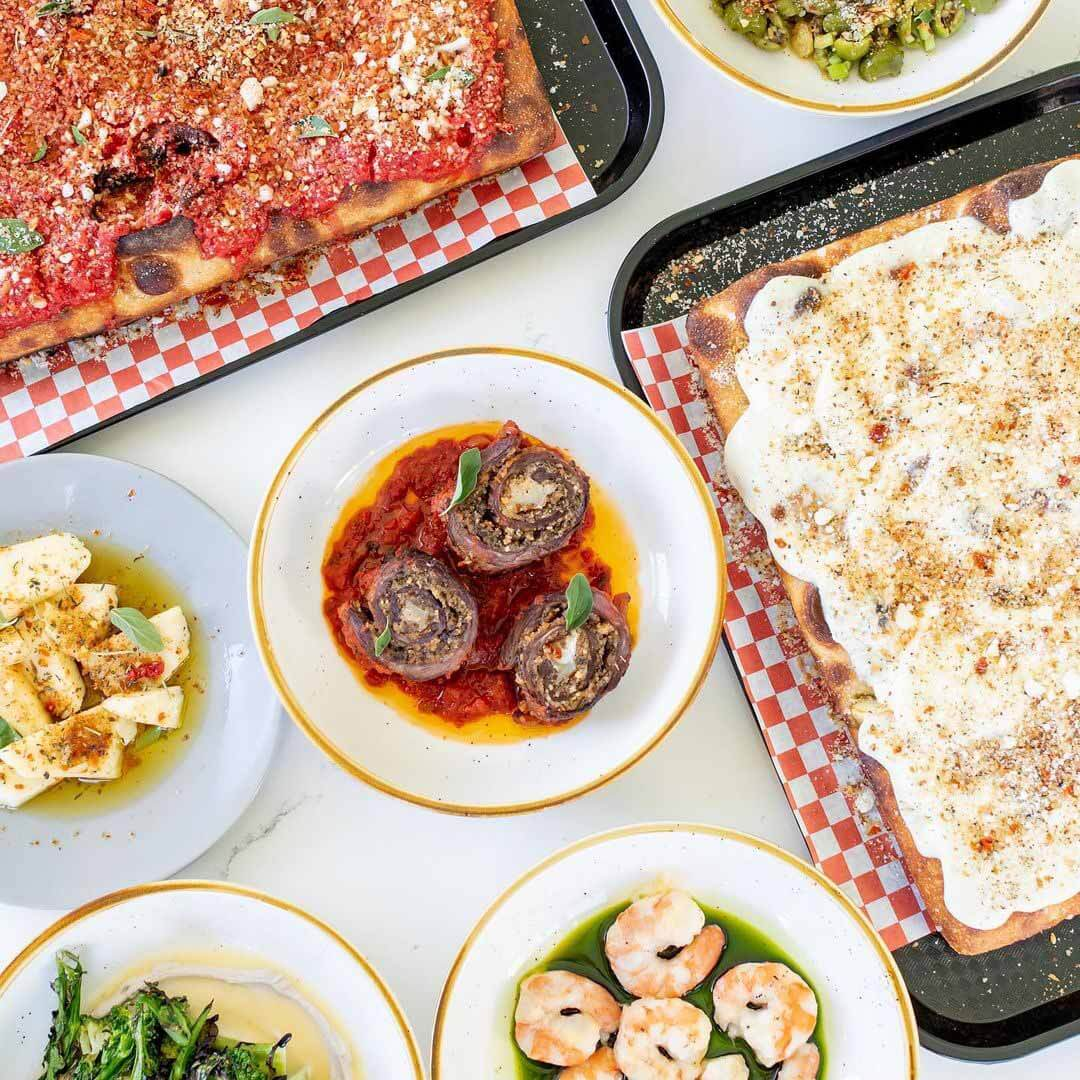 Selection of Italian dishes from St. Vito Focacciaria