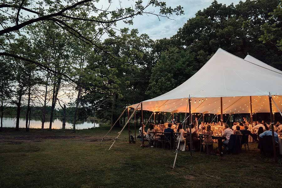 Katie and Marshall Wedding Home Place Pastures Tent