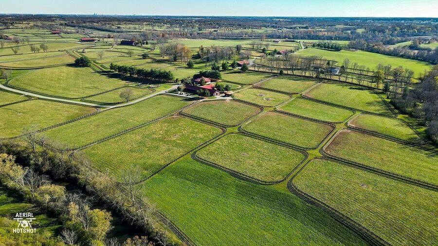 Equus Run Vineyards from above