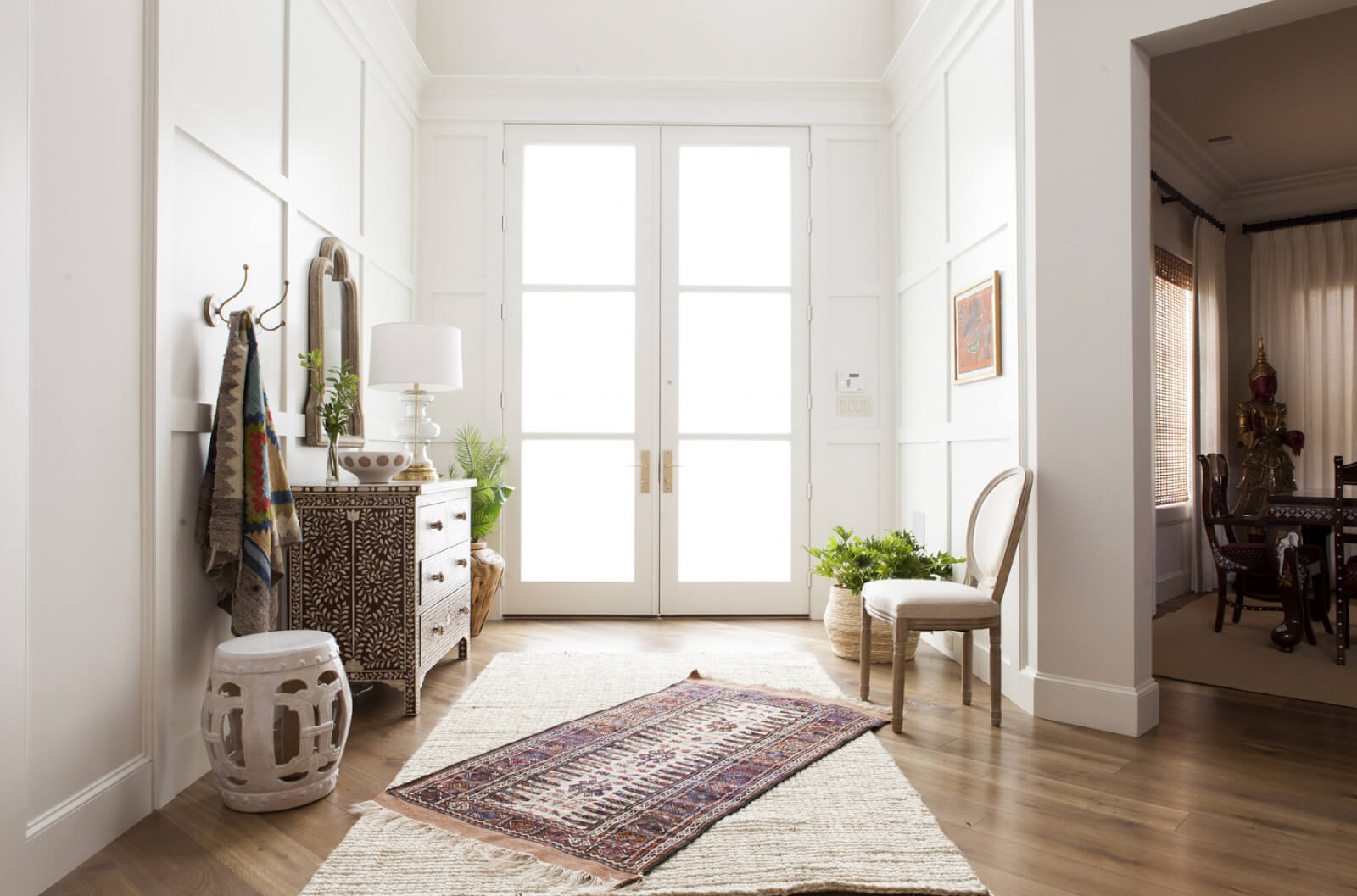 Entryway in Dallas home designed by Megan Fornes of ML Interiors Group