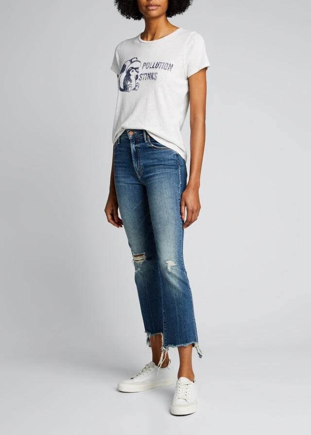 Skinny flare cropped jeans from Bergdorf Goodman