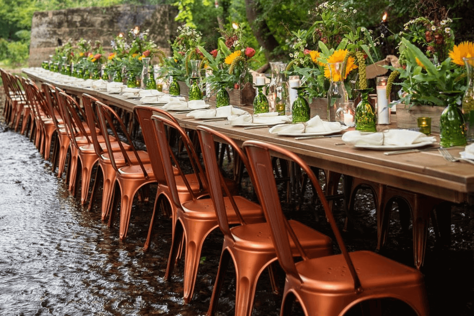 A Dinner Party IN a Creek – And It's Absolutely STUNNING!