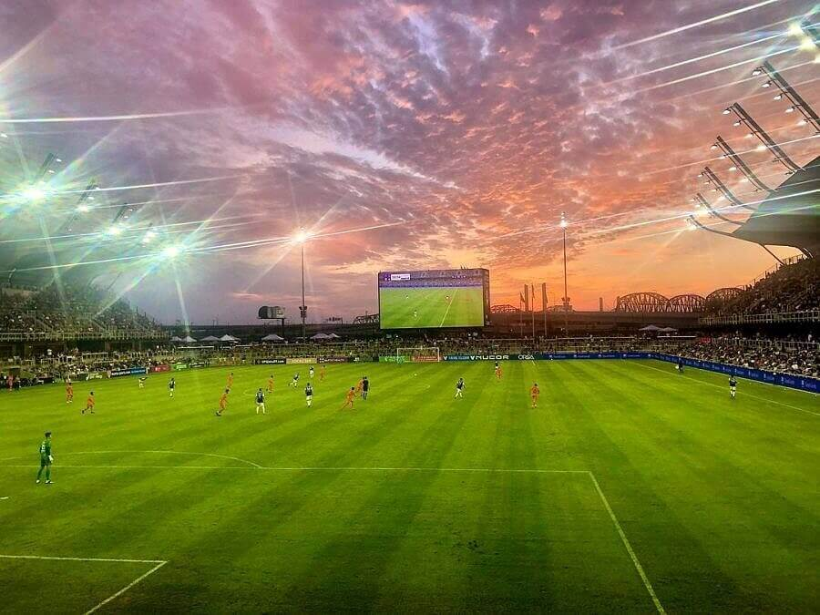 Evening Soccer Game in Louisville