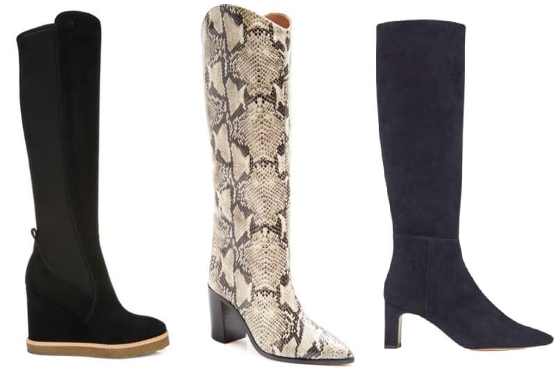 Knee-high boots from Veronica Beard, Schutz, and Lafayette 148 NYC at Gus Mayer